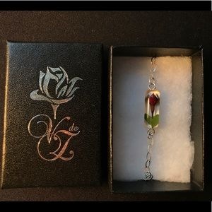 Jewelry - Real Miniature Rose Chain Bracelet